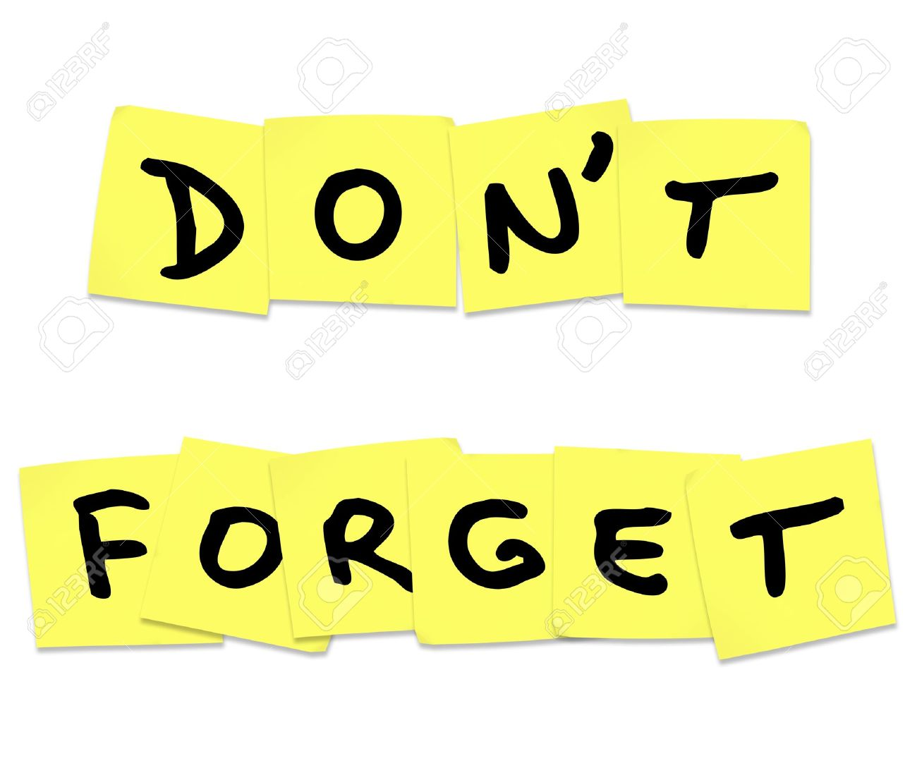 the words don t forget stock photo picture and royalty free image rh 123rf com don't forget clip art images smiley don't forget clipart