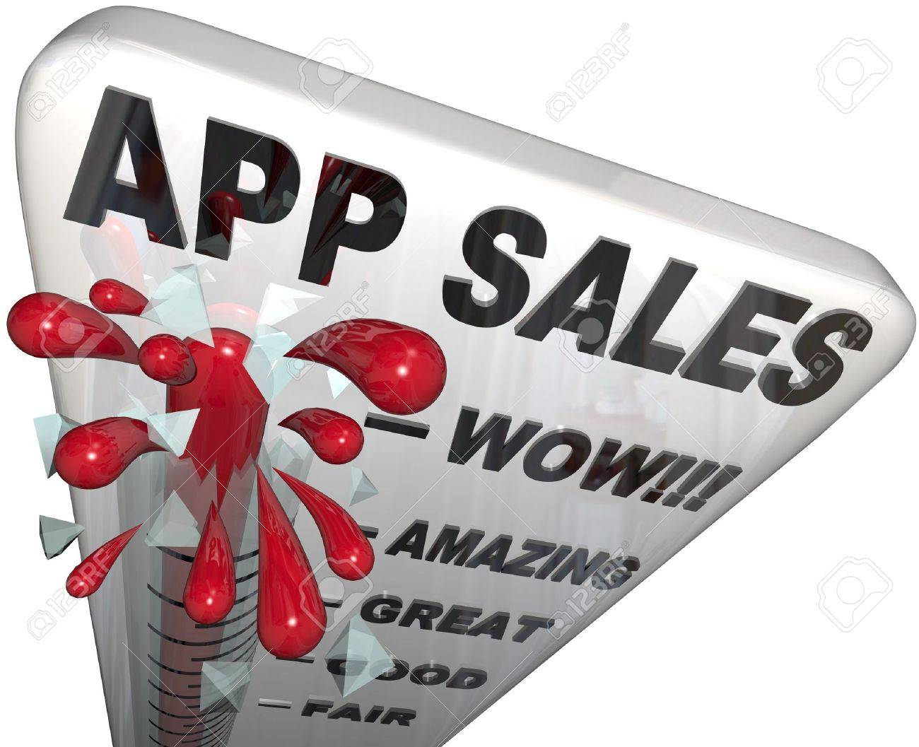 The Words App Sales On A Thermometer Tracking The Rising Revenues ...