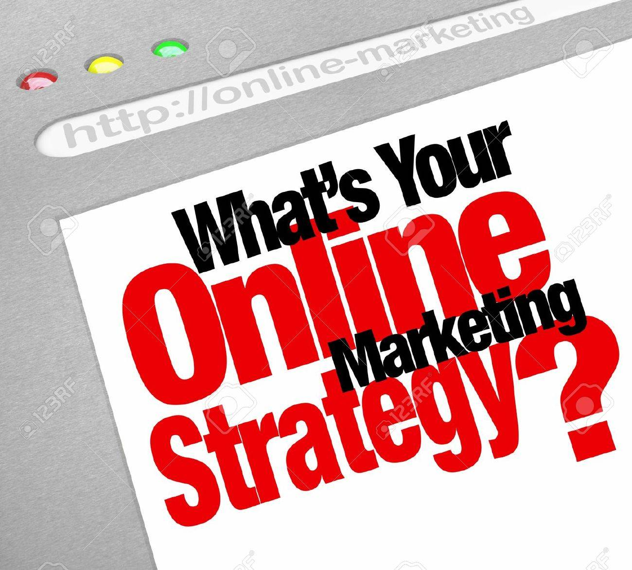The question What's Your Online Marketing Strategy Stock Photo - 14783269