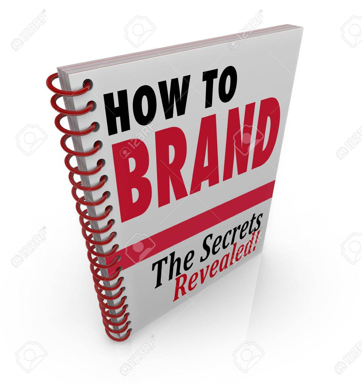 A spiral bound book with the title How to Brand giving advice and information on branding your product Stock Photo - 15357812
