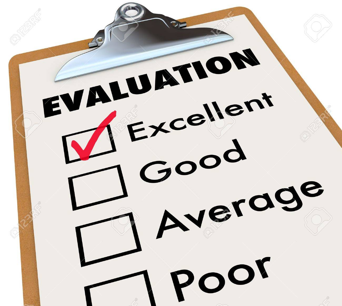 An evaluation report card on an easel with a checkmark next to an evaluation report card on an easel with a checkmark next to the word excellent along altavistaventures Gallery