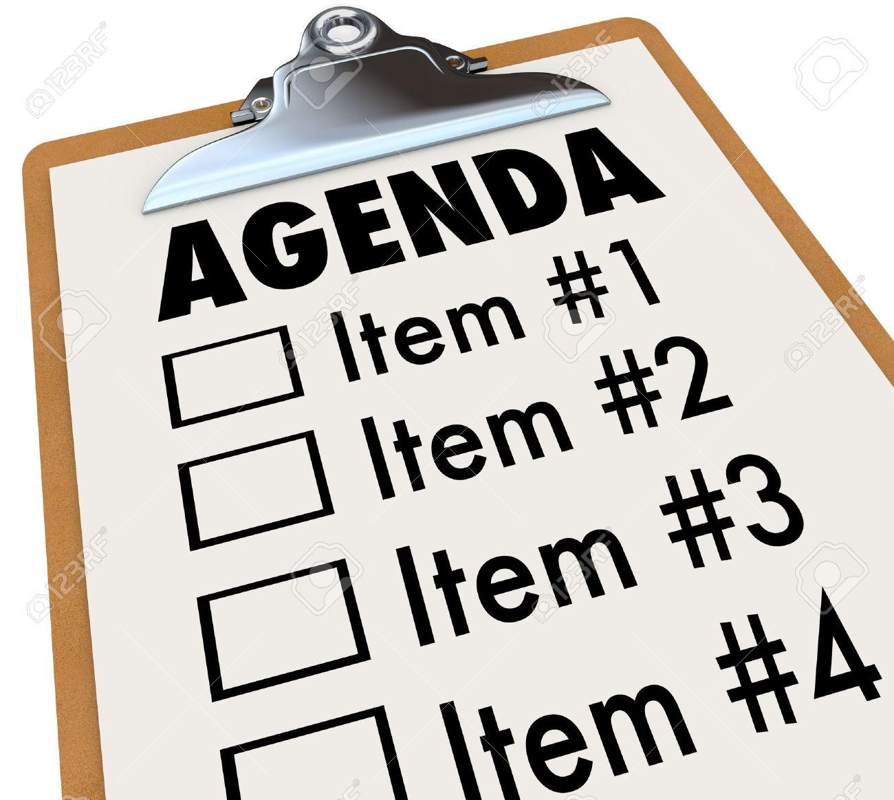 The Word Agenda On A Numbered List Of Things To Do Or Cover – Agenda