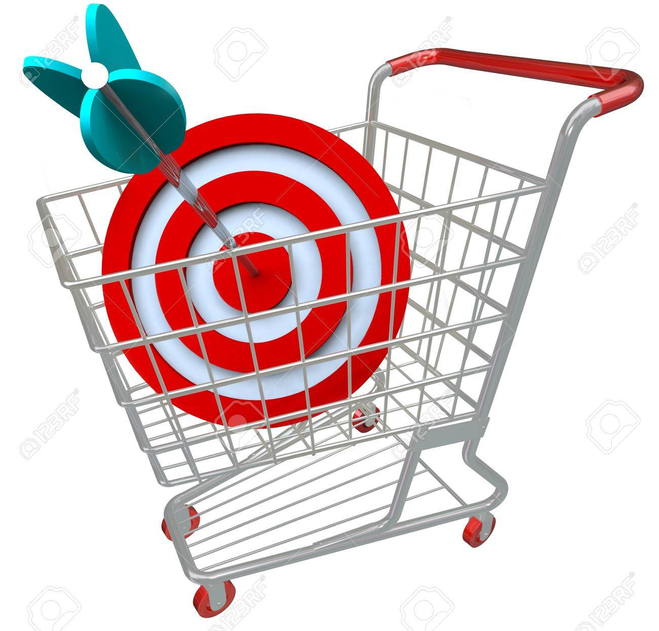 Target Symbol Target Symbol a Shopping Cart