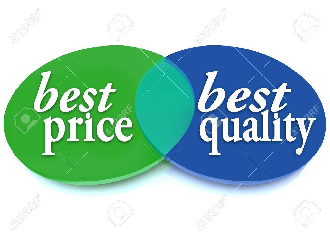 Archivio Fotografico - Un diagramma di Venn di cerchi sovrapposti con le  parole Migliore prezzo e migliore qualità per simboleggiare la scelta  migliore ... 285aa1130cc