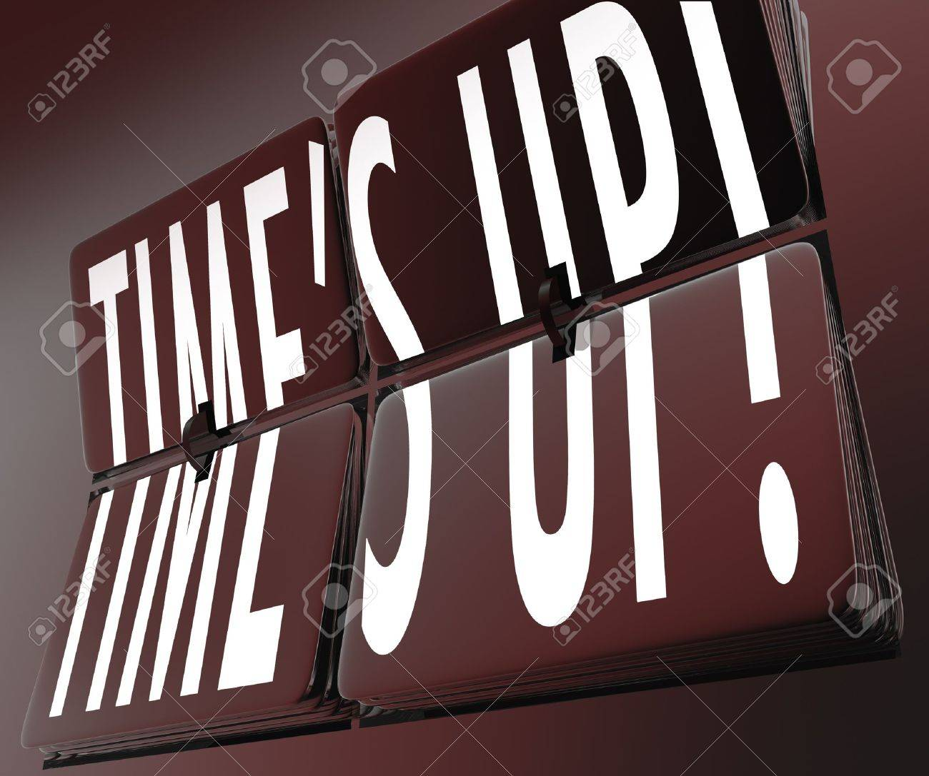 Tiles on an old-fashioned, retro clock with flip-style numbers and the word Awake on the flip tiles to tell you to get up for work, an appointment or other important event Stock Photo - 18565296