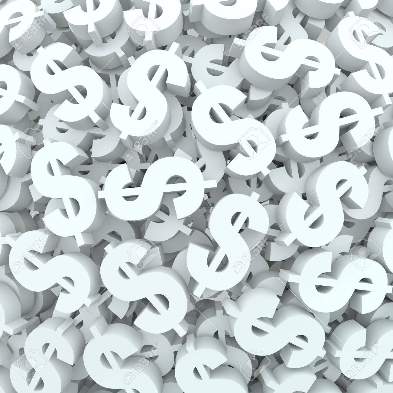 a background of dollar signs and symbols to represent and illustrate