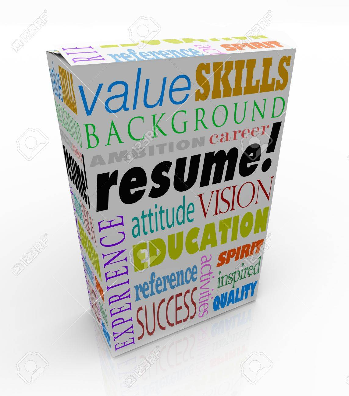 a resume on a unique product or box to present you in an interview
