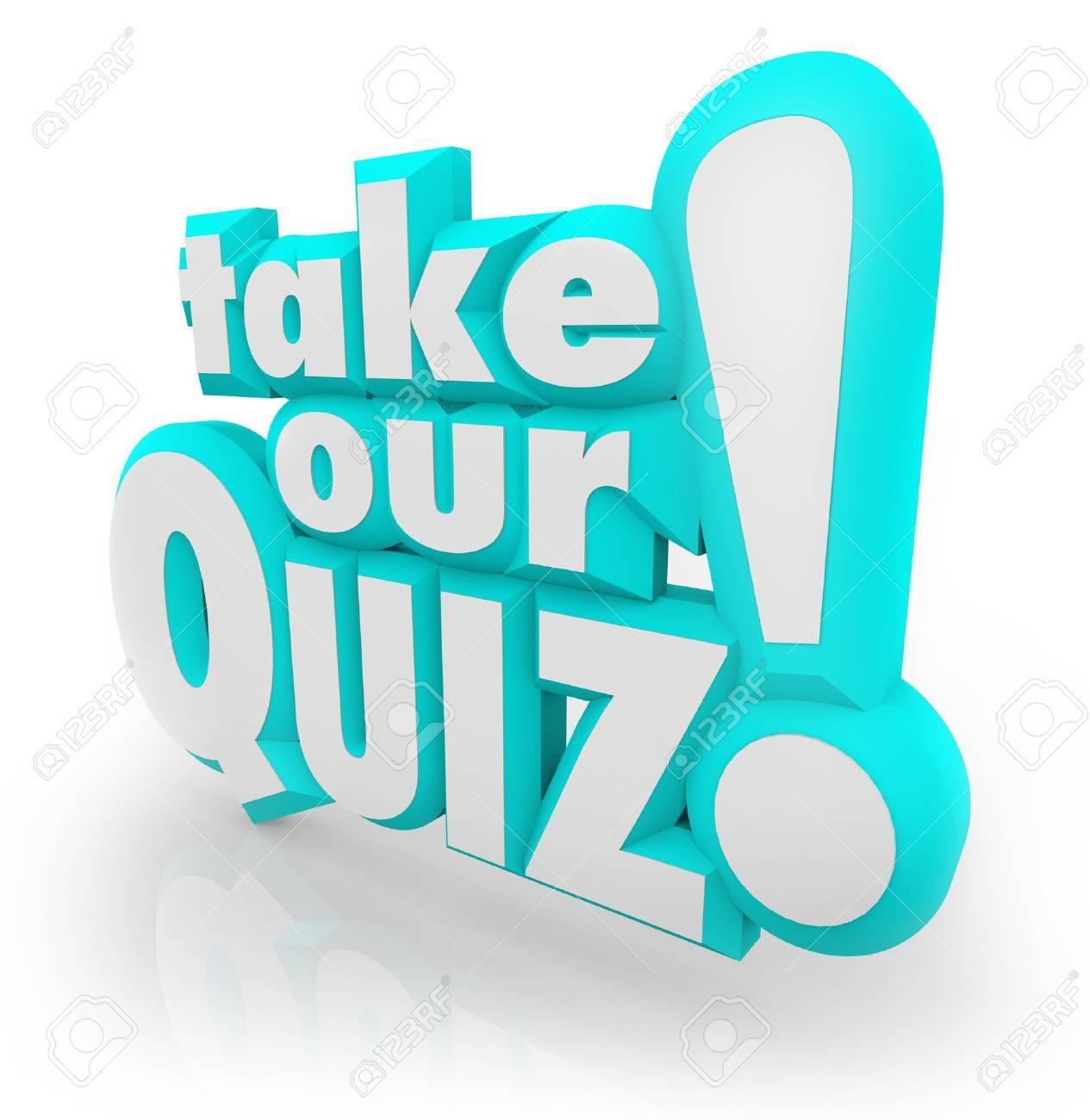 les mots répondez à notre quiz en lettres 3d bleu pour illustrer une