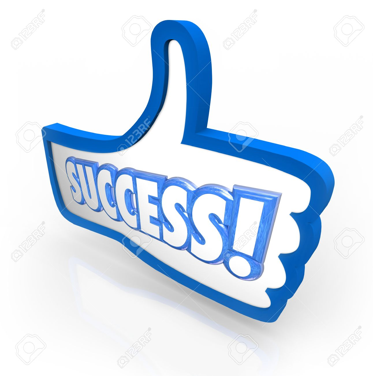 The word success in a blue thumbs up symbol to illustrate you the word success in a blue thumbs up symbol to illustrate you like a product biocorpaavc Images