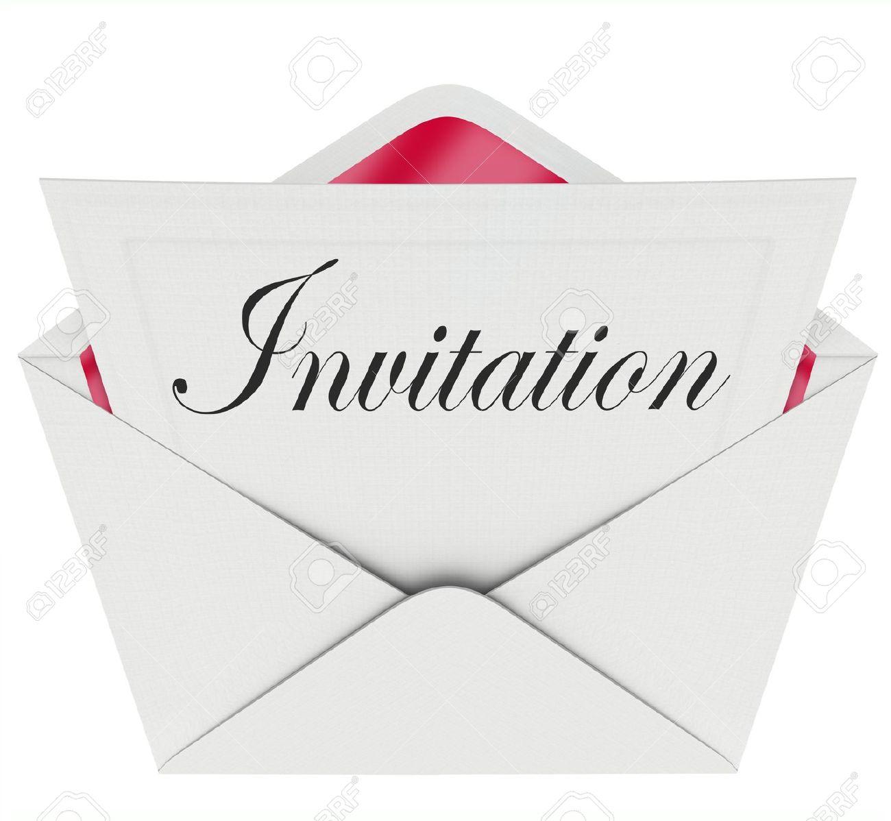 """Préférence Le Mot """"Invitation"""" Sur Une Carte Dans Une Enveloppe Officielle  OT99"""