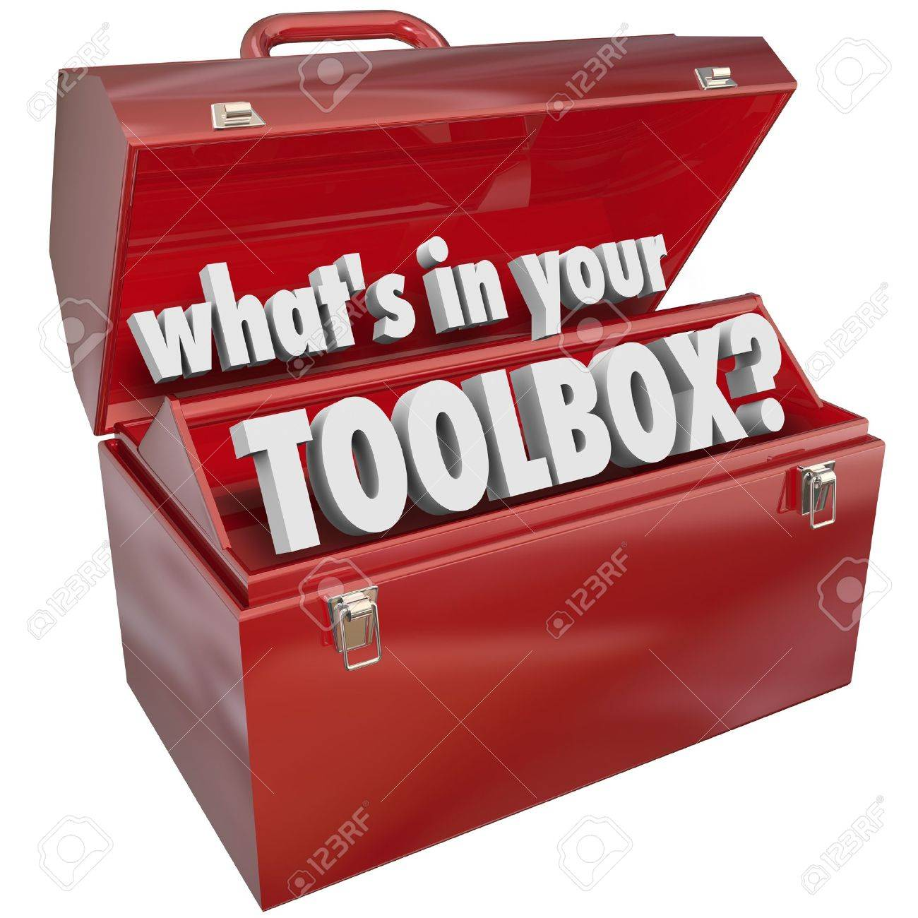 The question What's in Your Toolbox? asking if you have the skills and experience necessary to perform a task or job - 21642421