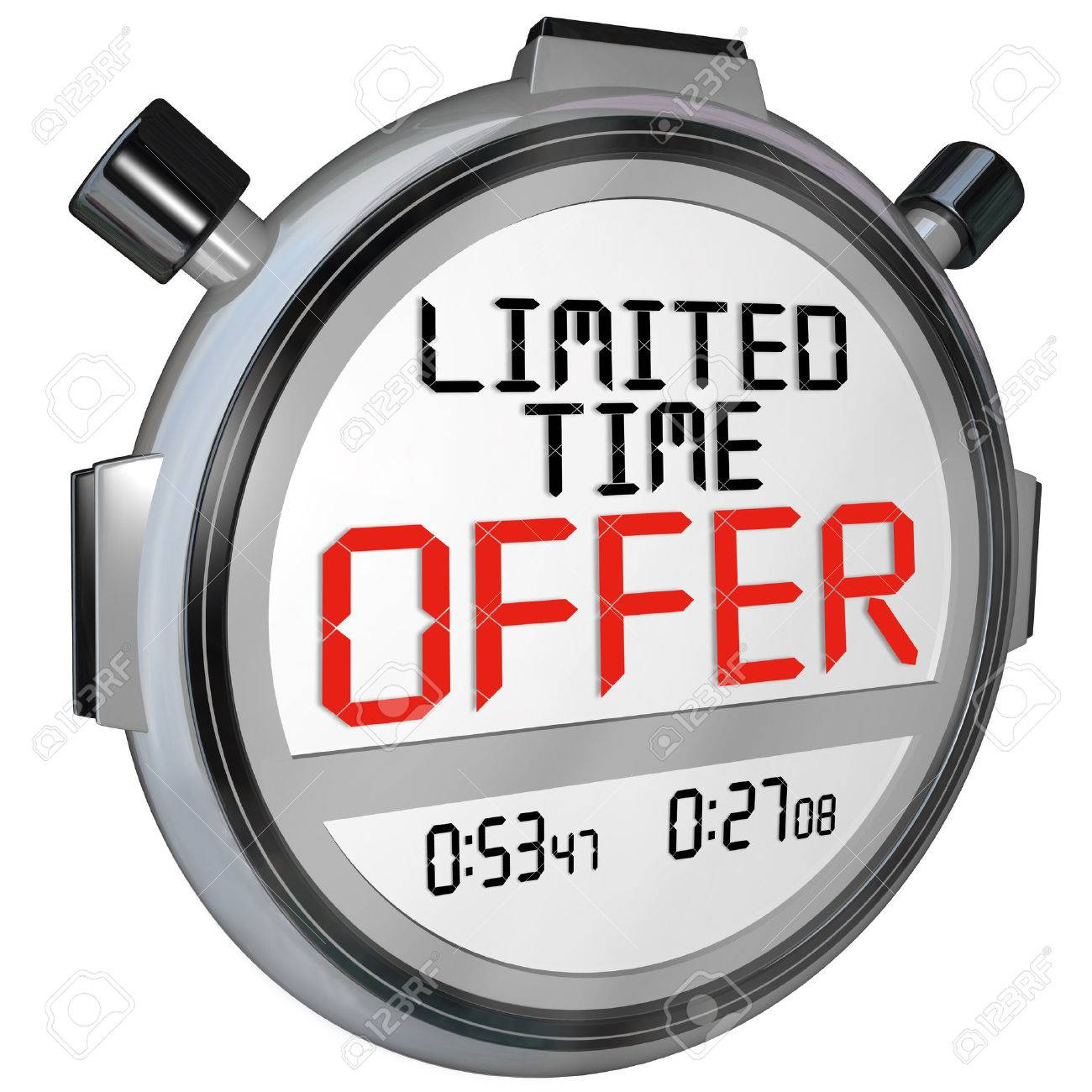 Price cut limited time offer shop now for the best selection hurry - Limited Time Offer The Words Limited Time Offer On A Stopwatch Or Timer To Illustrate