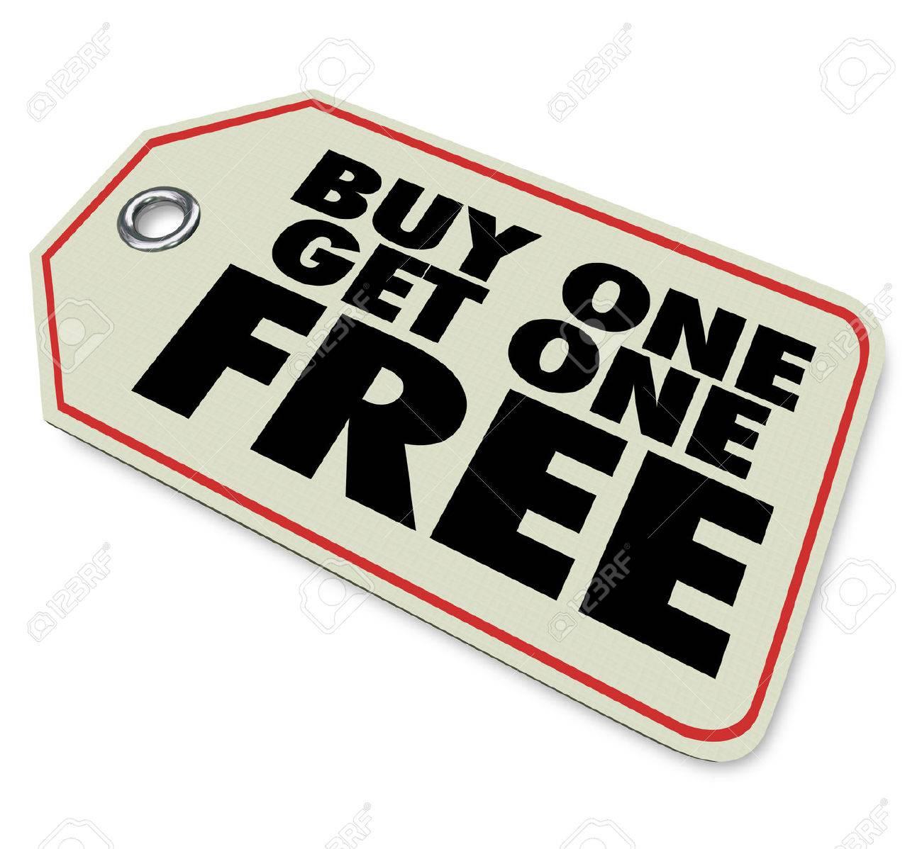 Ein Preisschild Mit Worten Buy One Get One Free Um Einen
