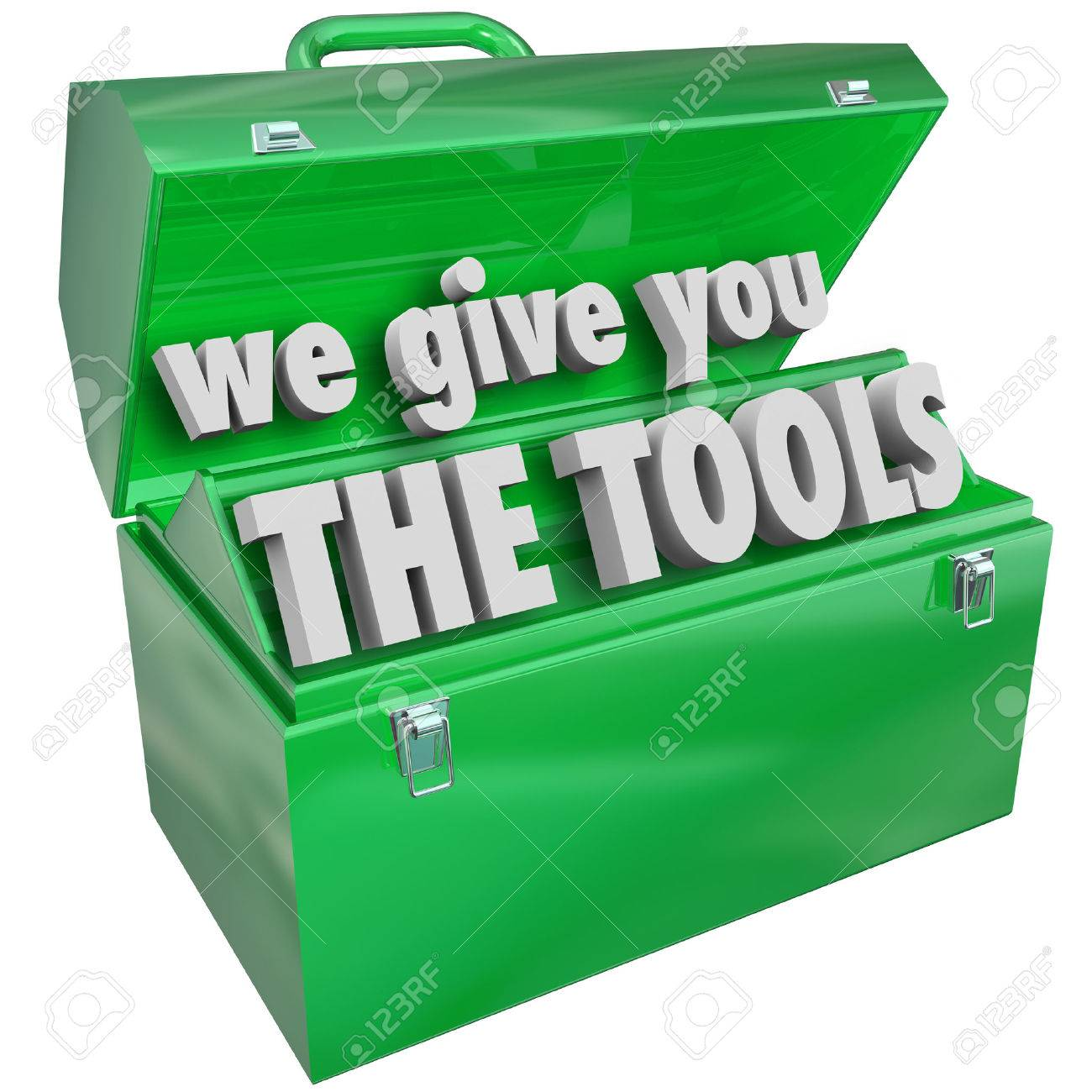 we give you the tools green metal toolbox words to illustrate the tools green metal toolbox words to illustrate skills and training a company business or school can provide to make you more marketable for a job