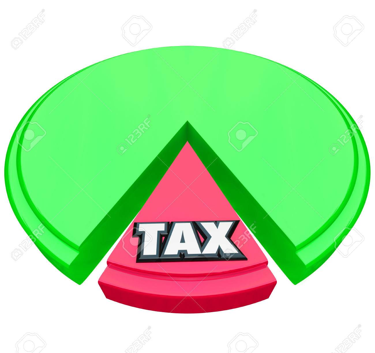 Tax word on a pie chart to illustrate the high percentage or tax word on a pie chart to illustrate the high percentage or share of income or nvjuhfo Gallery