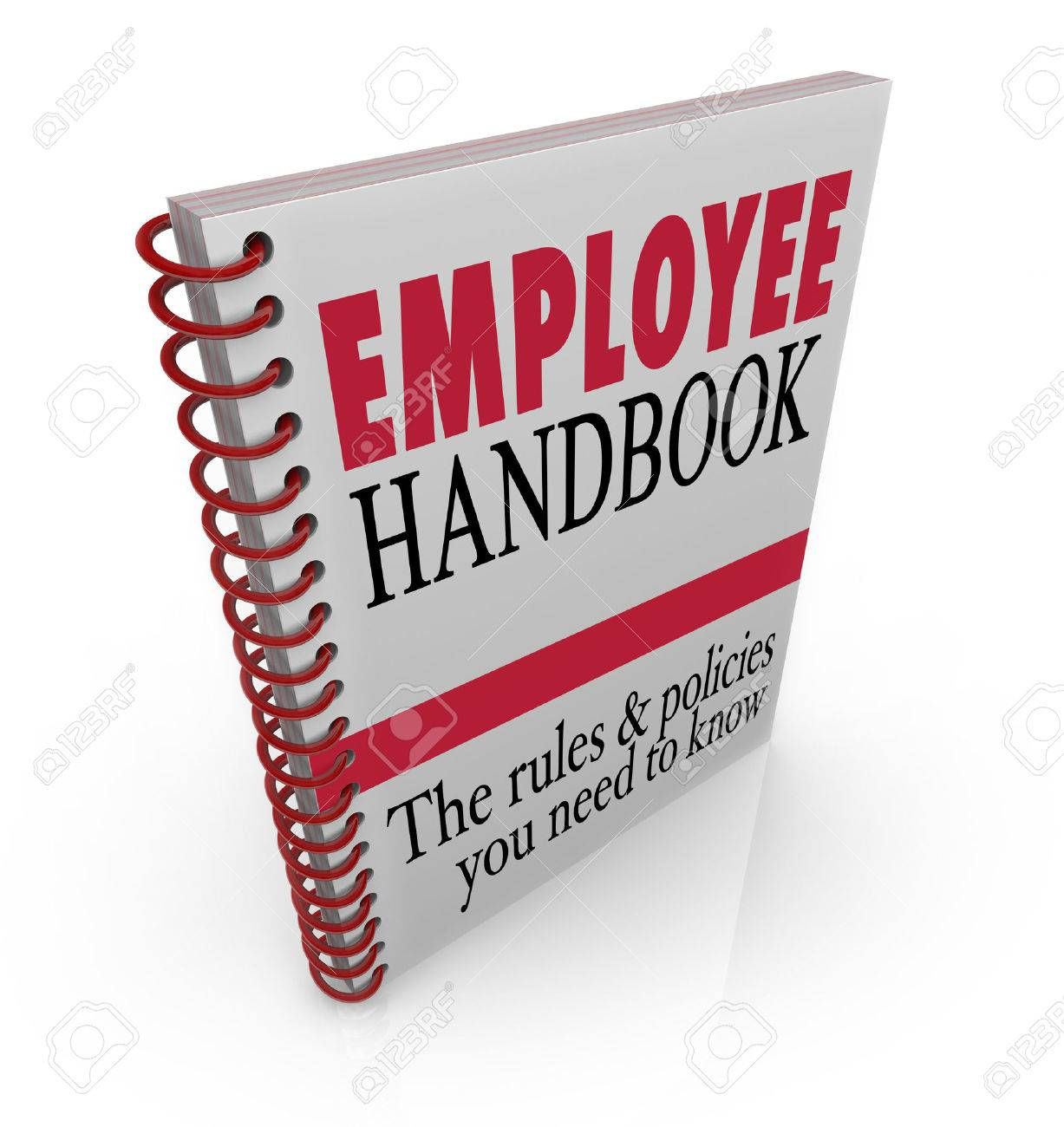 Employee Handbook Words On A Book Cover To Illustrate Policies ...