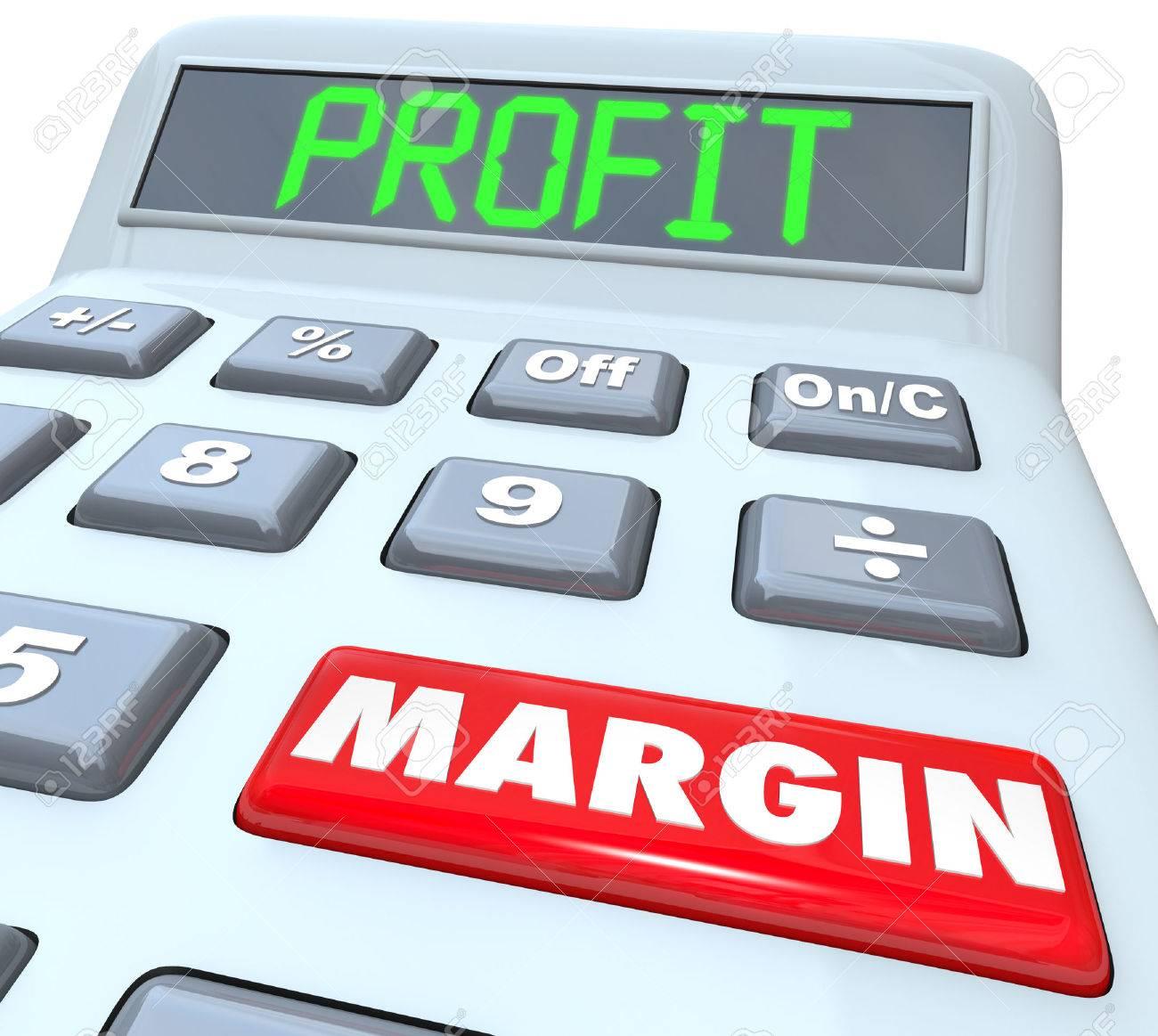 Profit Margin Words On A Plastic Calculator To Illustrate Adding ...