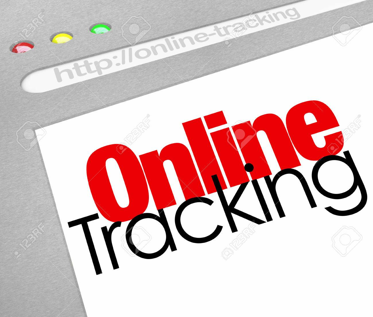 online tracking words on a website internet store or online stock
