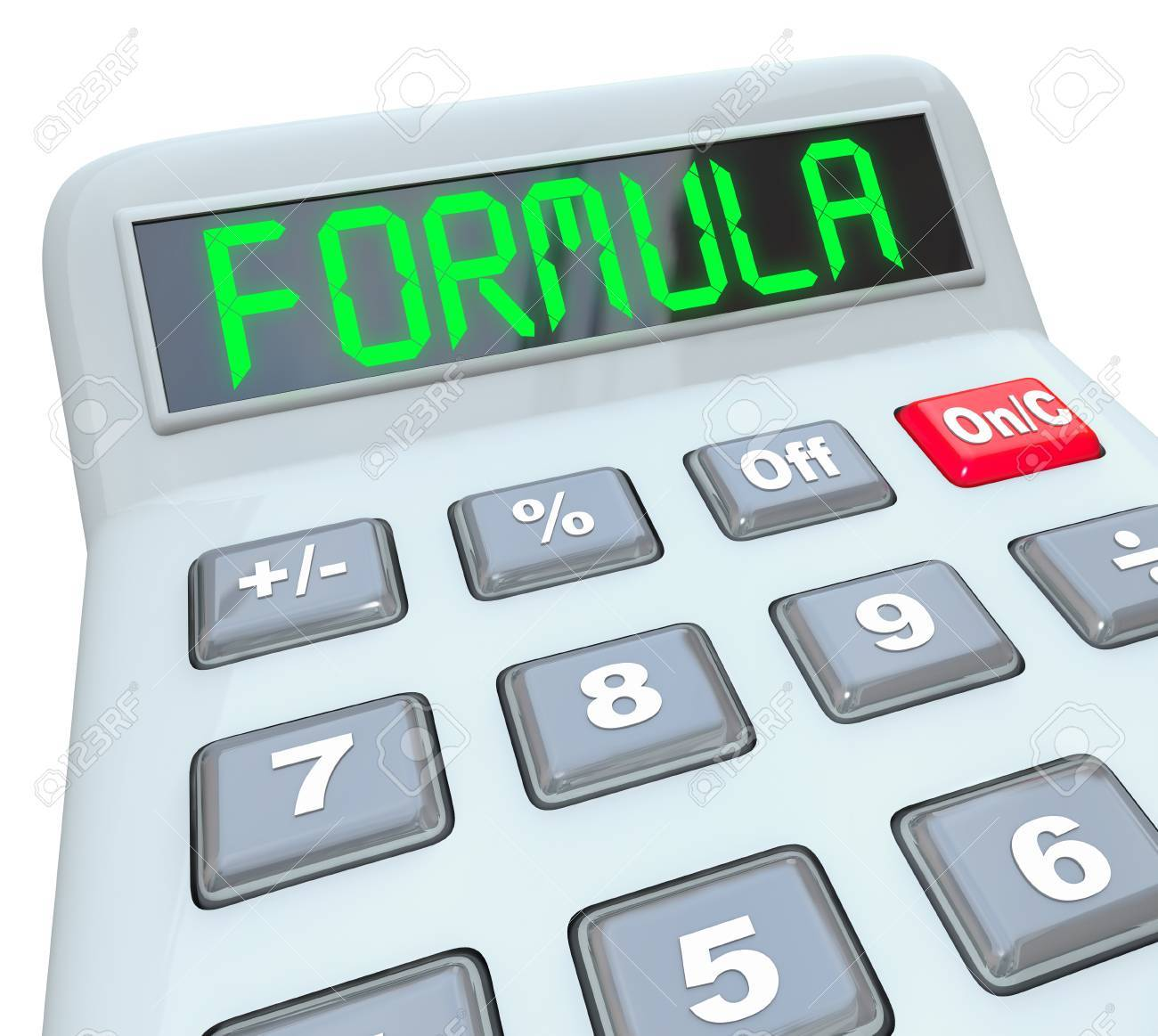 Formula Word On The Digital Display Of A Calculator To Illustrate ...