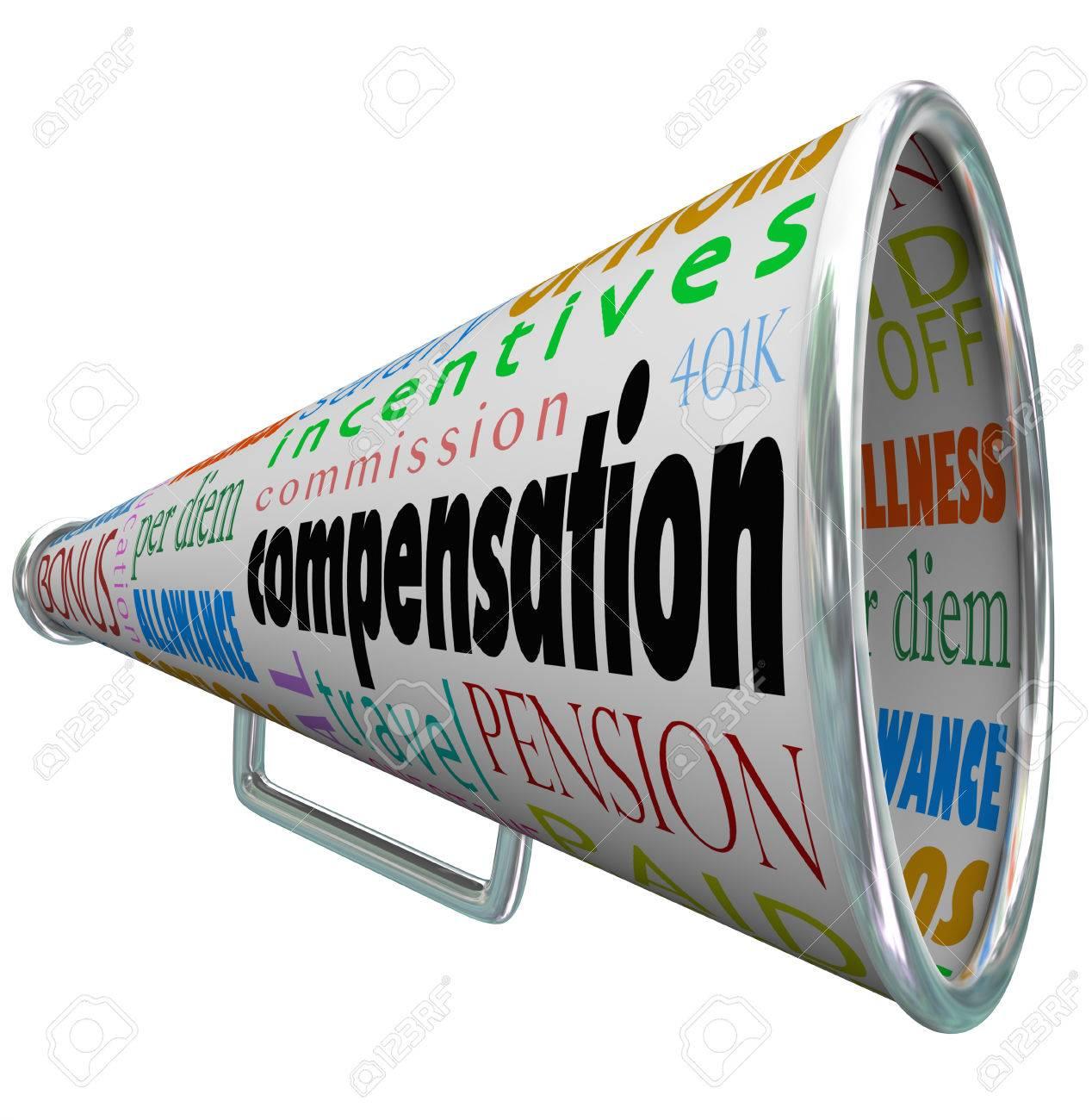 Compensación Y Palabras Relacionadas En Un Megáfono O Megáfono, Como ...