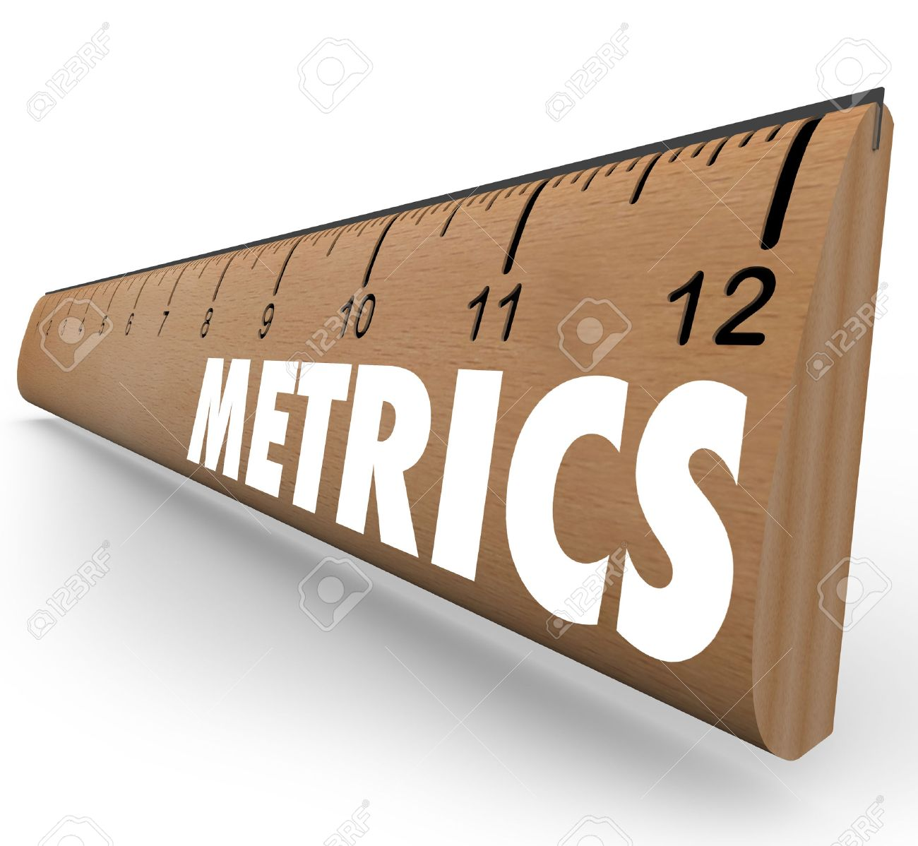 metrics word on a wooden ruler to illustrate a set of measurements metrics word on a wooden ruler to illustrate a set of measurements methodology and benchmarking