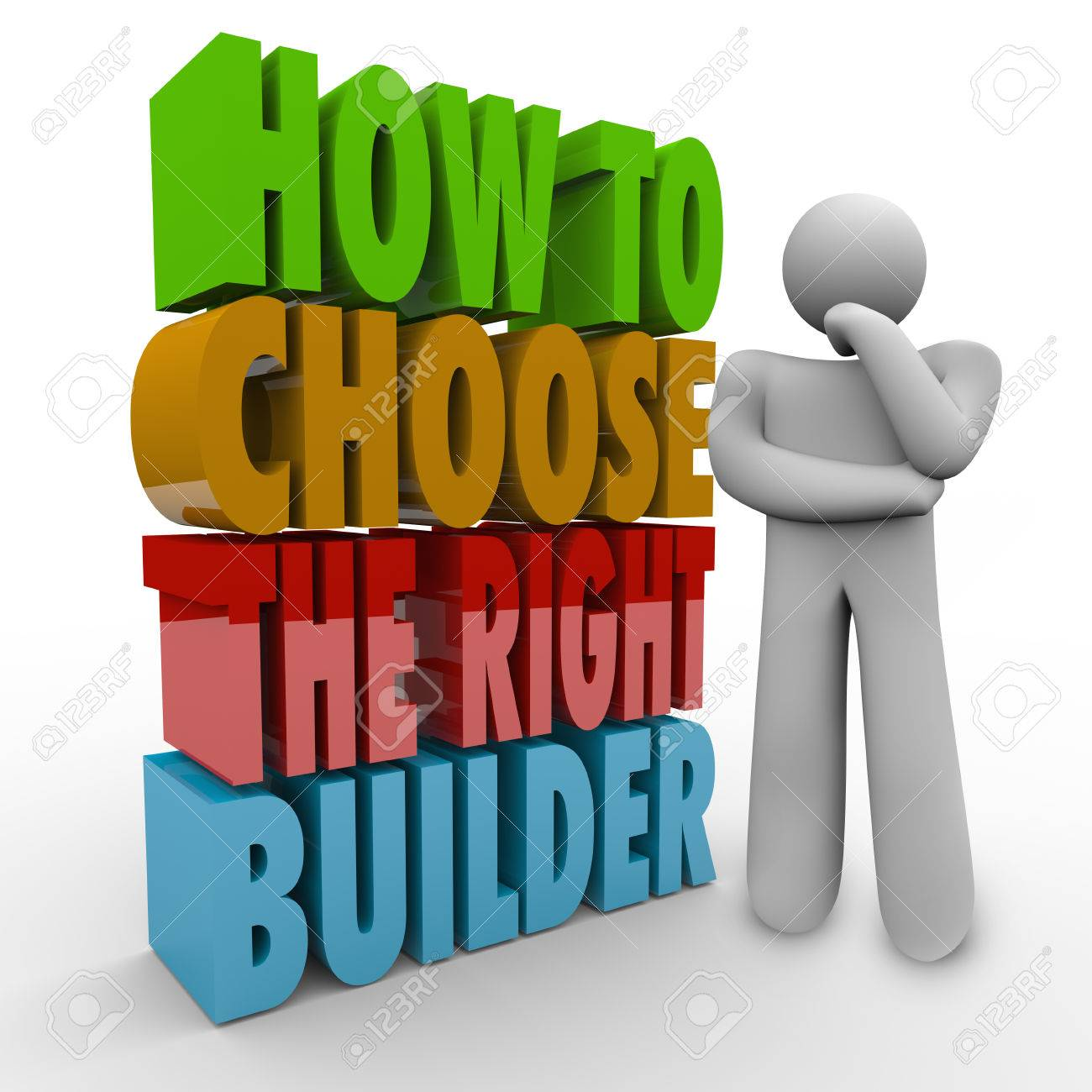how to choose the right builder words in 3d letters next to a