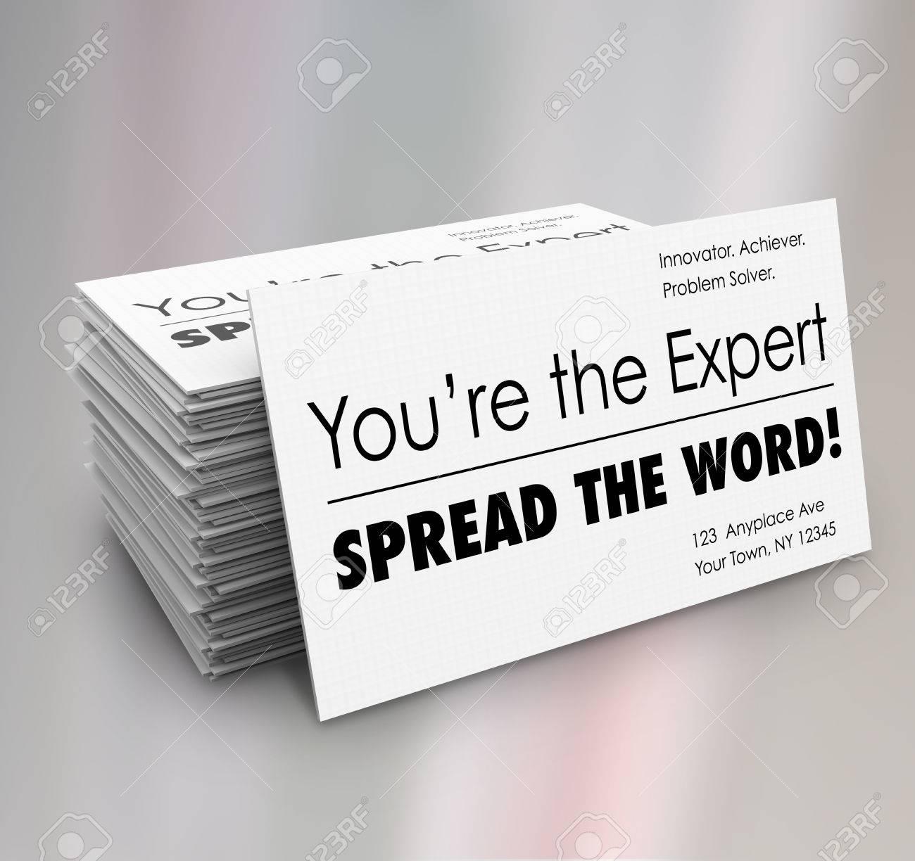Vous Etes Lexpert Etaler La Carte De Visite Pile Word Pour