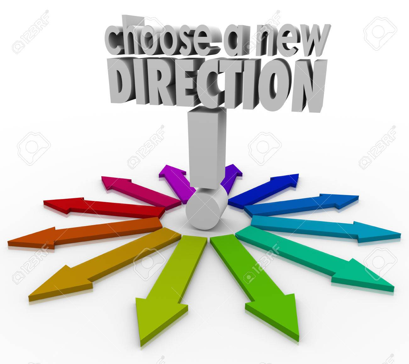 choose a new direction d words to illustrate the many possible choose a new direction 3d words to illustrate the many possible choices before you in changing