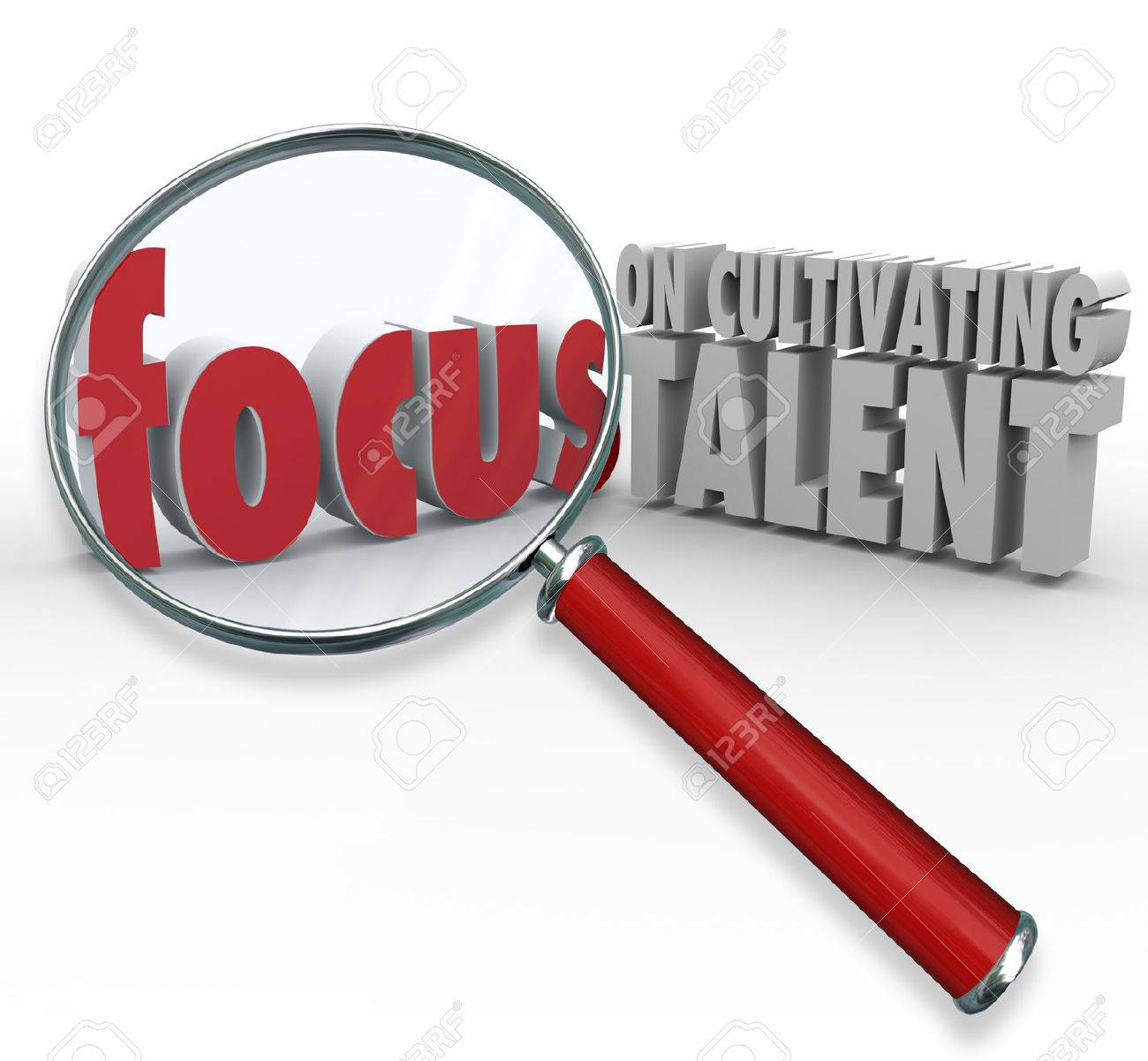 train skills stock photos images royalty train skills images train skills focus on cultivating talent 3d words under a magnifying glass to illustrate finding