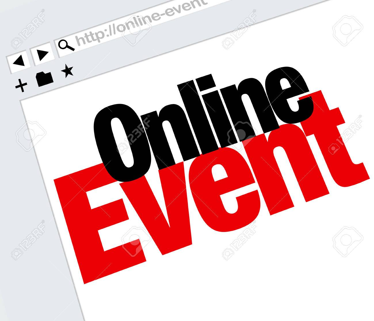 online event words on an internet website advertising or promoting