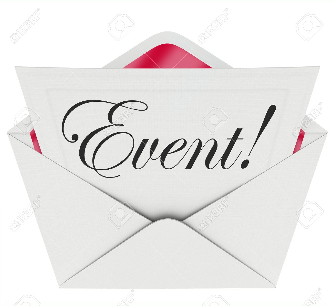 Event Word In Cursive Script Writing On A Formal Invitation Asking ...
