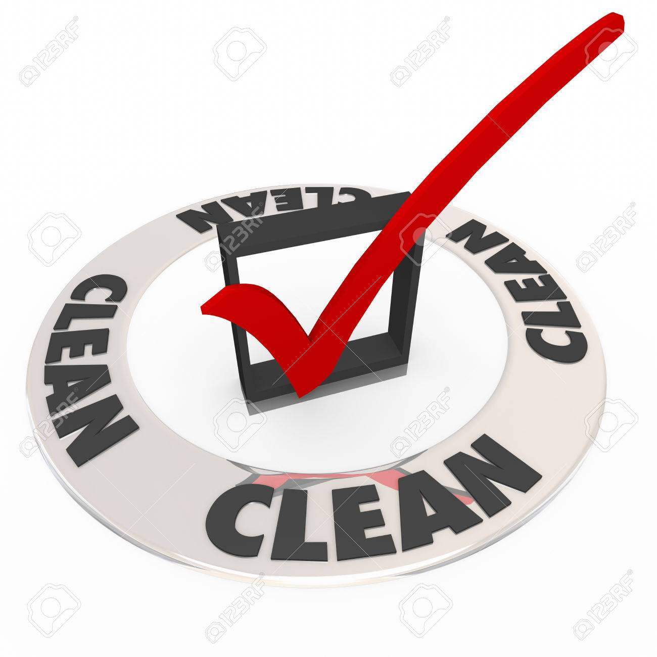 Clean word on a ring around a check mark or box as certification clean word on a ring around a check mark or box as certification verification or 1betcityfo Image collections