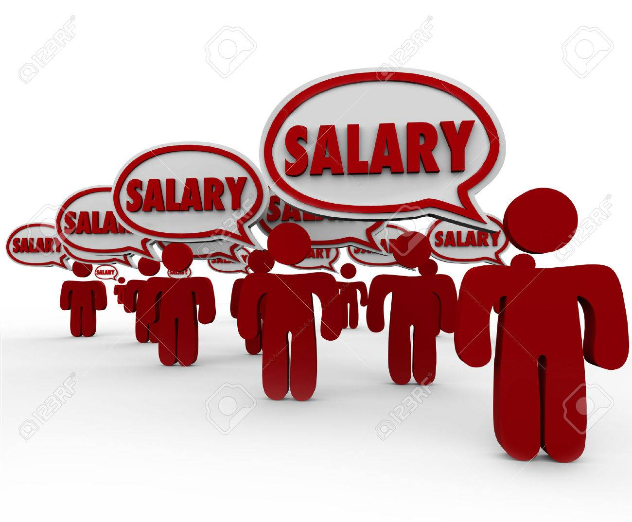 salary raise stock photos pictures royalty salary raise salary raise salary words in 3d speech bubbles above people talking
