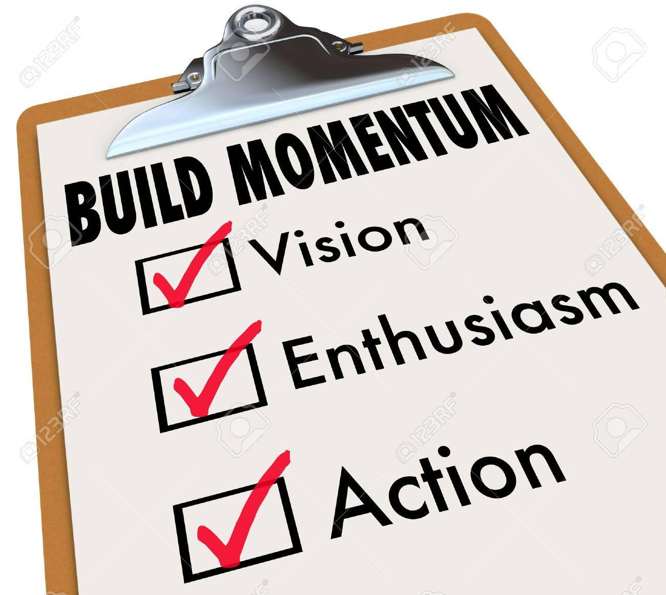 Comment Construire Mots Momentum Sur Une Liste De Controle Sur Les