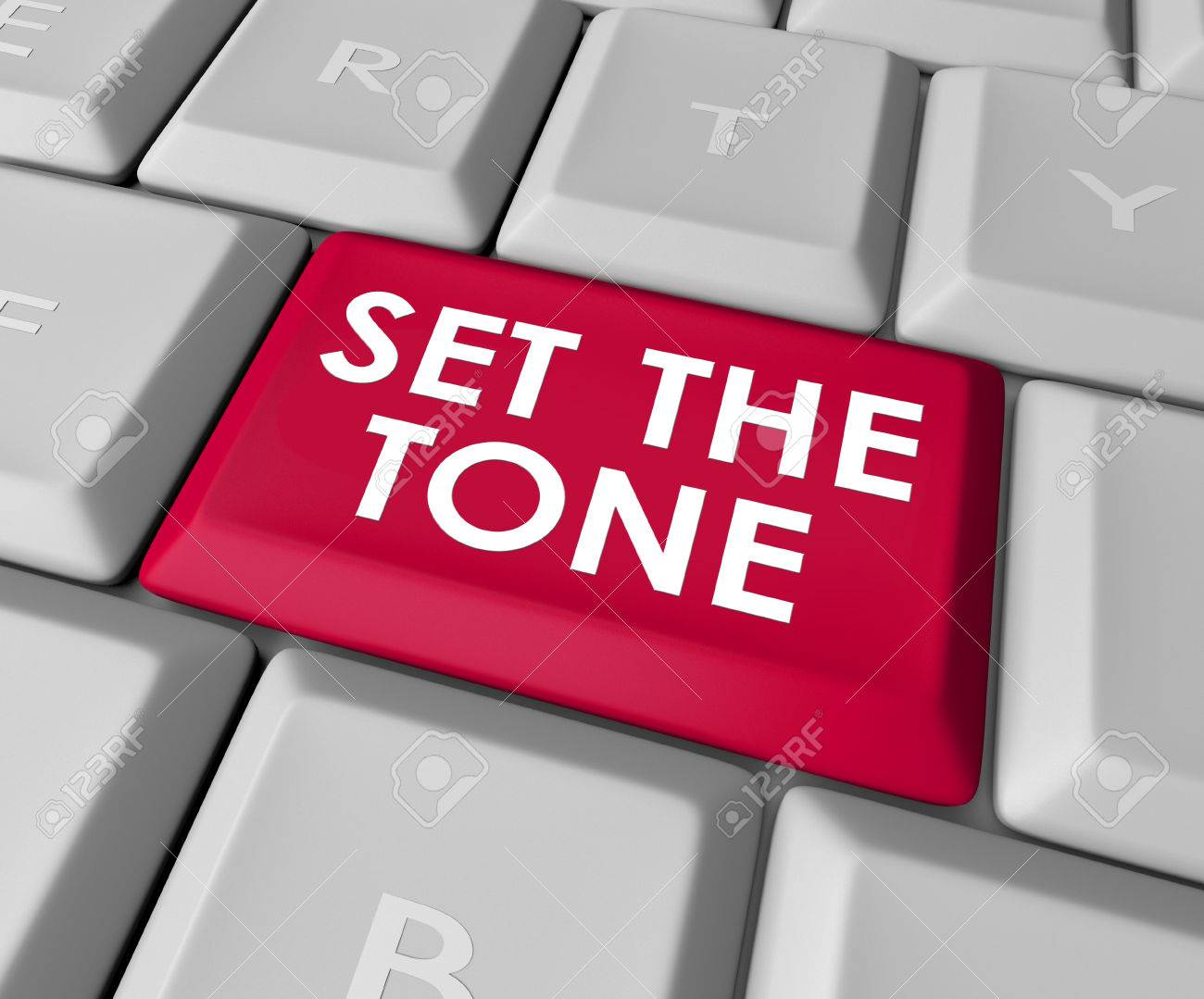 Set The Tone Words On A Computer Keyboard Button Or Key To Inject Meaning  In Your Message In Text Or Email Stock Photo, Picture And Royalty Free  Image. Image 32749712.