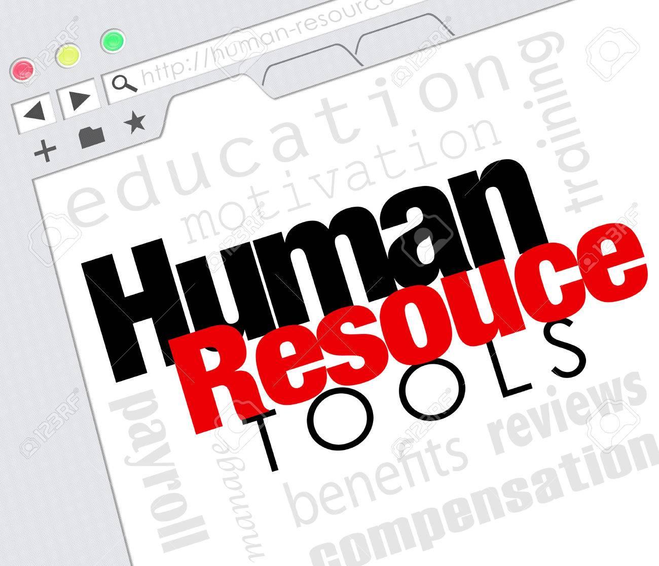 Recursos Humanos Palabras En Una Pantalla Sitio Web De Internet ...