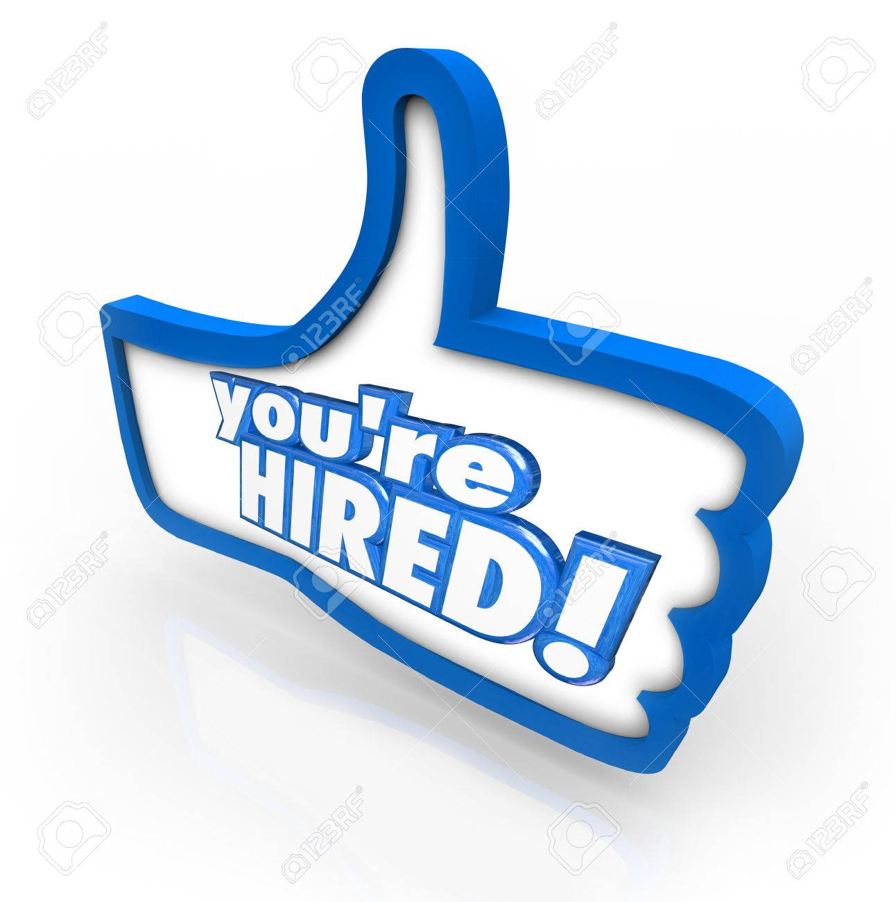 you re hired words in 3d letters on a thumbs up symbol to stock photo you re hired words in 3d letters on a thumbs up symbol to illustrate the best or top job candidate being hired for an open position
