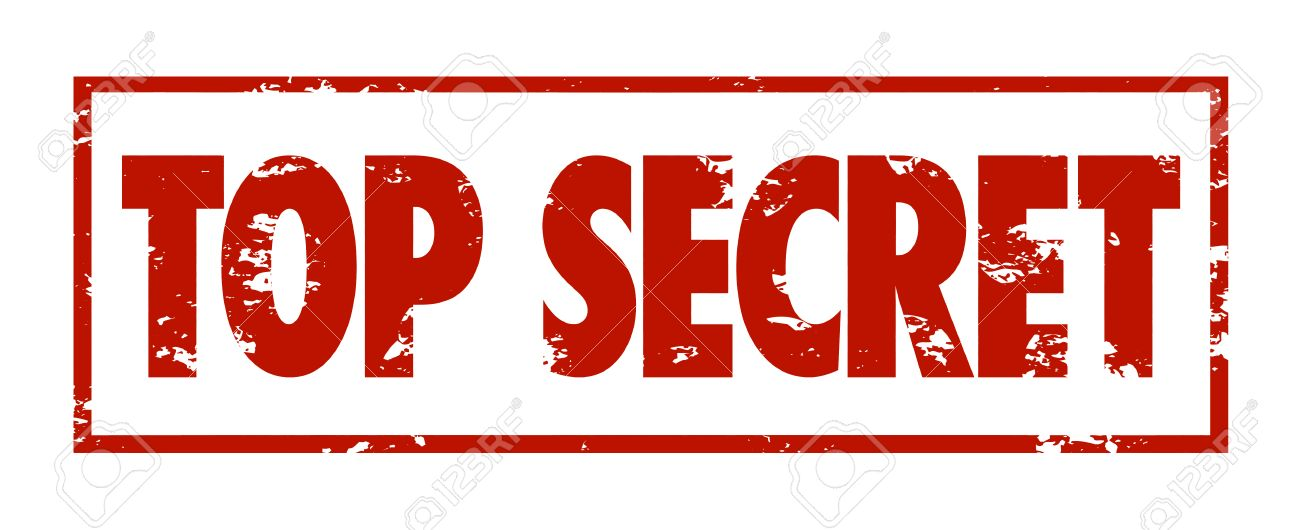 top secret words in red grungy stamped letters to mark protected