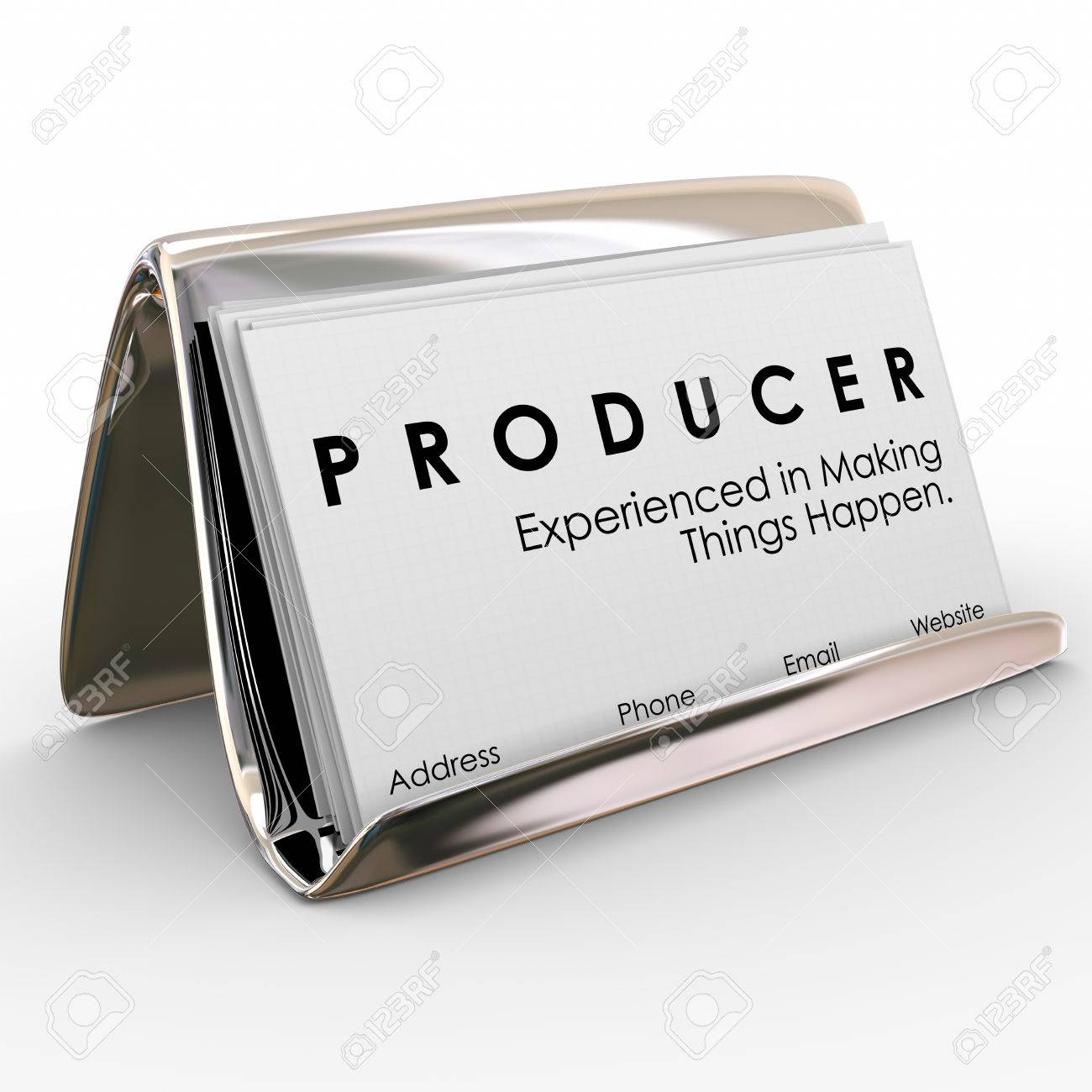 Producer Experienced In Making Things Happen Words On Business