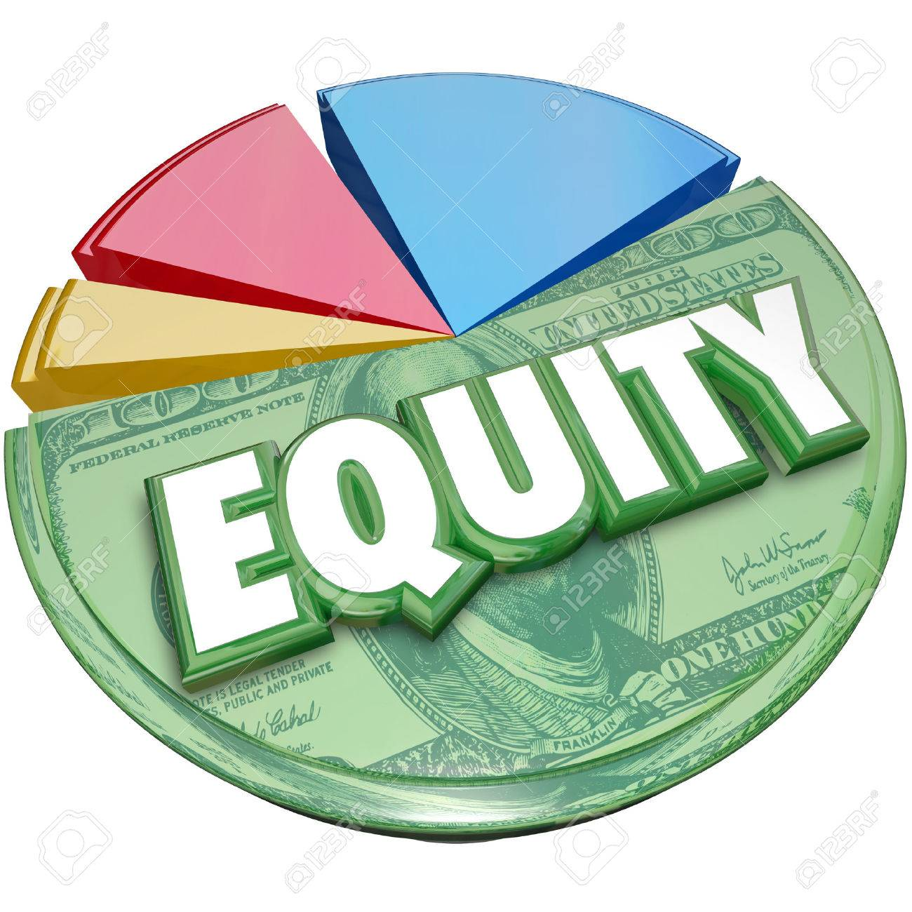 Equity word on a pie chart to illustrate stock balance investment equity word on a pie chart to illustrate stock balance investment account for amount owed or nvjuhfo Choice Image