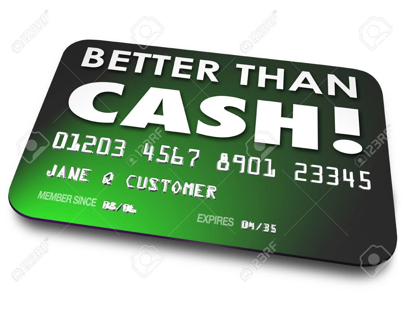 Mejore Que Palabras De Efectivo En Una De Crédito Verde, Tarjeta De ...
