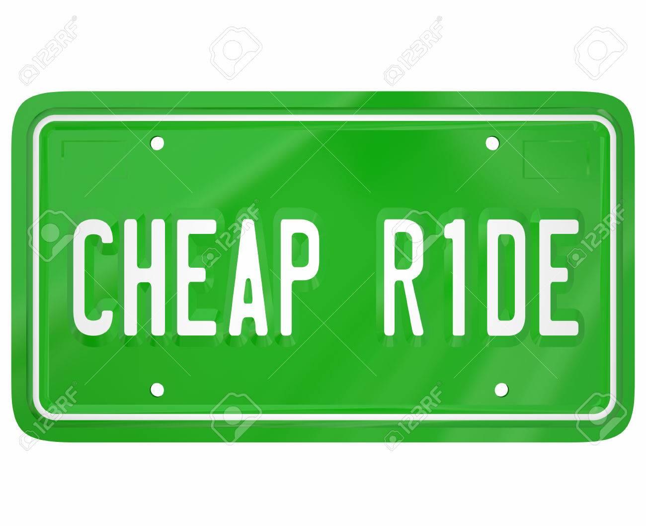 photo  mots ride a bas prix sur une plaque d immatriculation verte pour illustrer la voiture moins chere