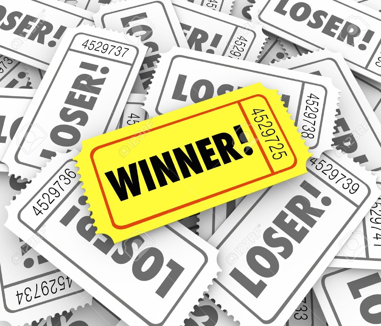 raffle ticket stock photos images royalty raffle ticket raffle ticket winner word on a golden or yellow ticket on a pile of loser