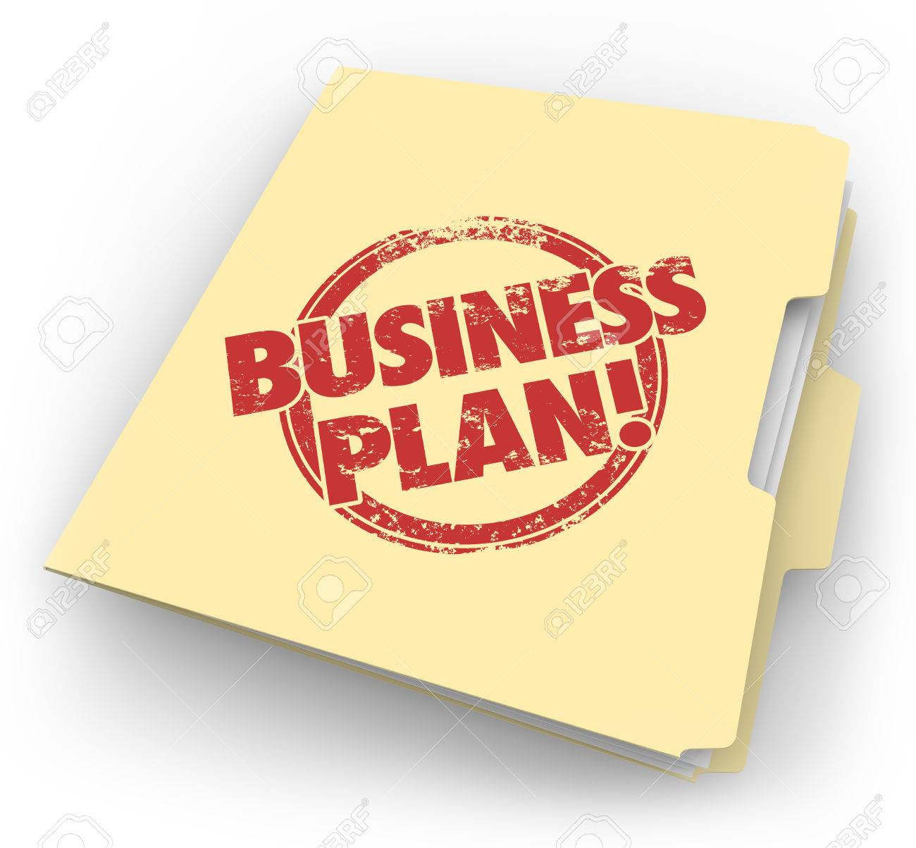 Business Plan Words In Red Grunge Style Stamp On A Manila Folder ...
