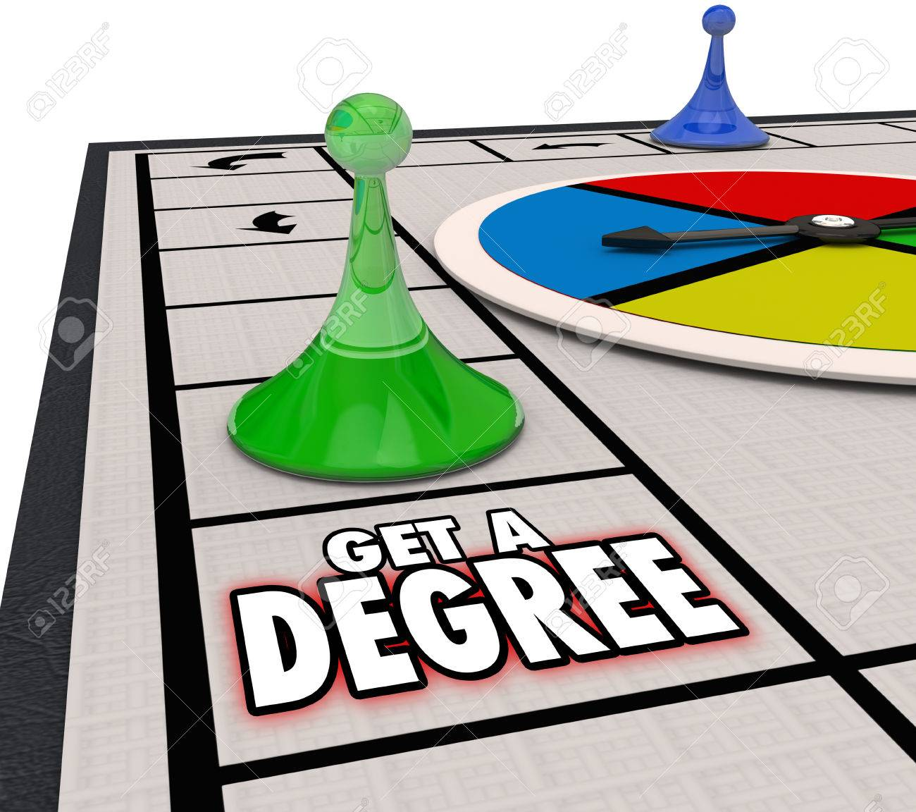 get degree board game moving forward to advance in a job or career get degree board game moving forward to advance in a job or career through education or