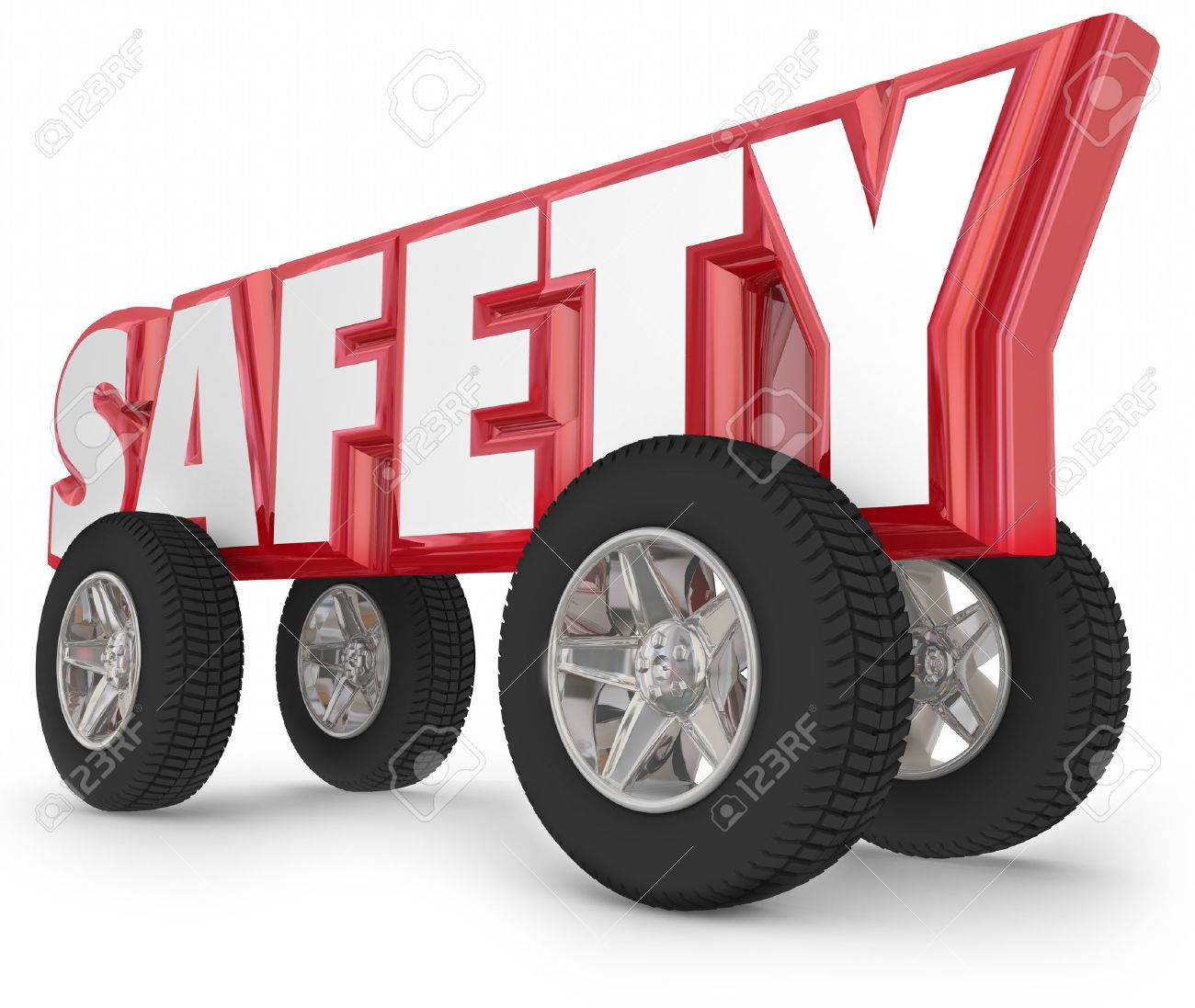Car colour affects road safety - Road Safety Safety Driving Word With Wheels Or Tires To Illustrate Safe Traveling In Car