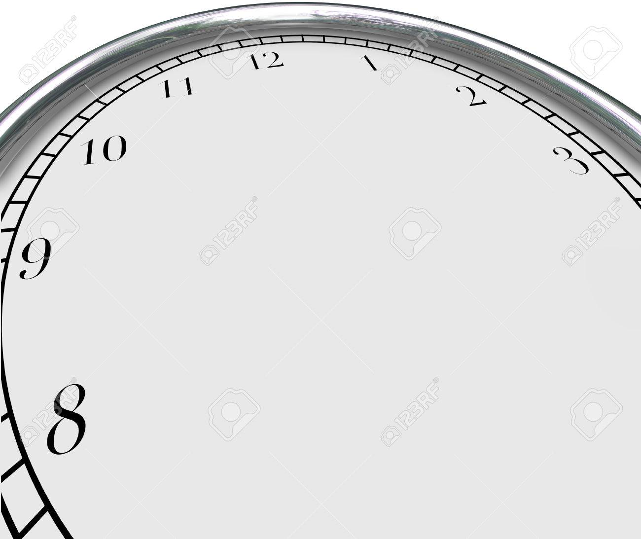 Blank clock face background to illustrate a time concept and