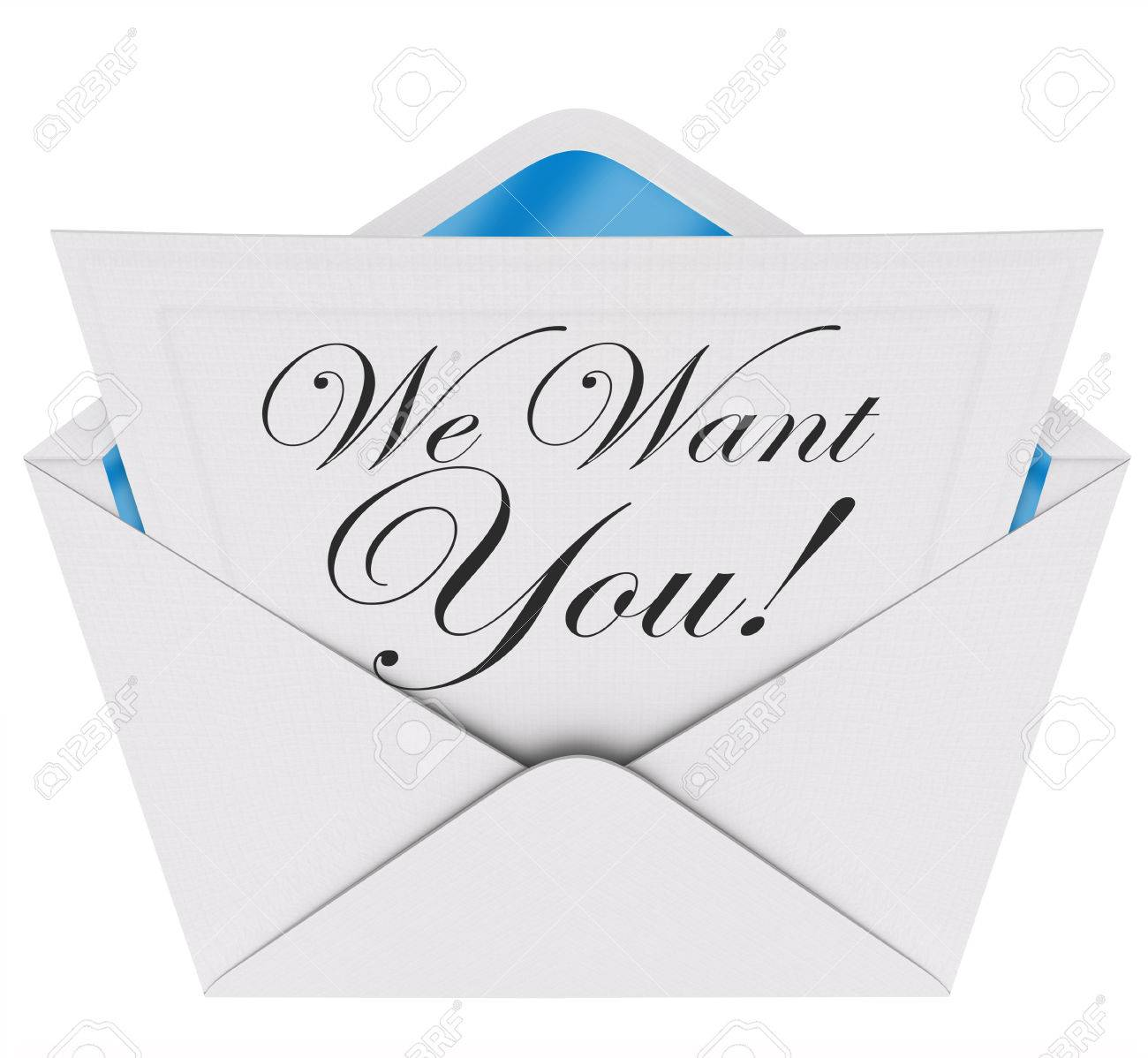 We Need You Words On A Letter Or Invitation In An Envelope Opening – Words for Invitation