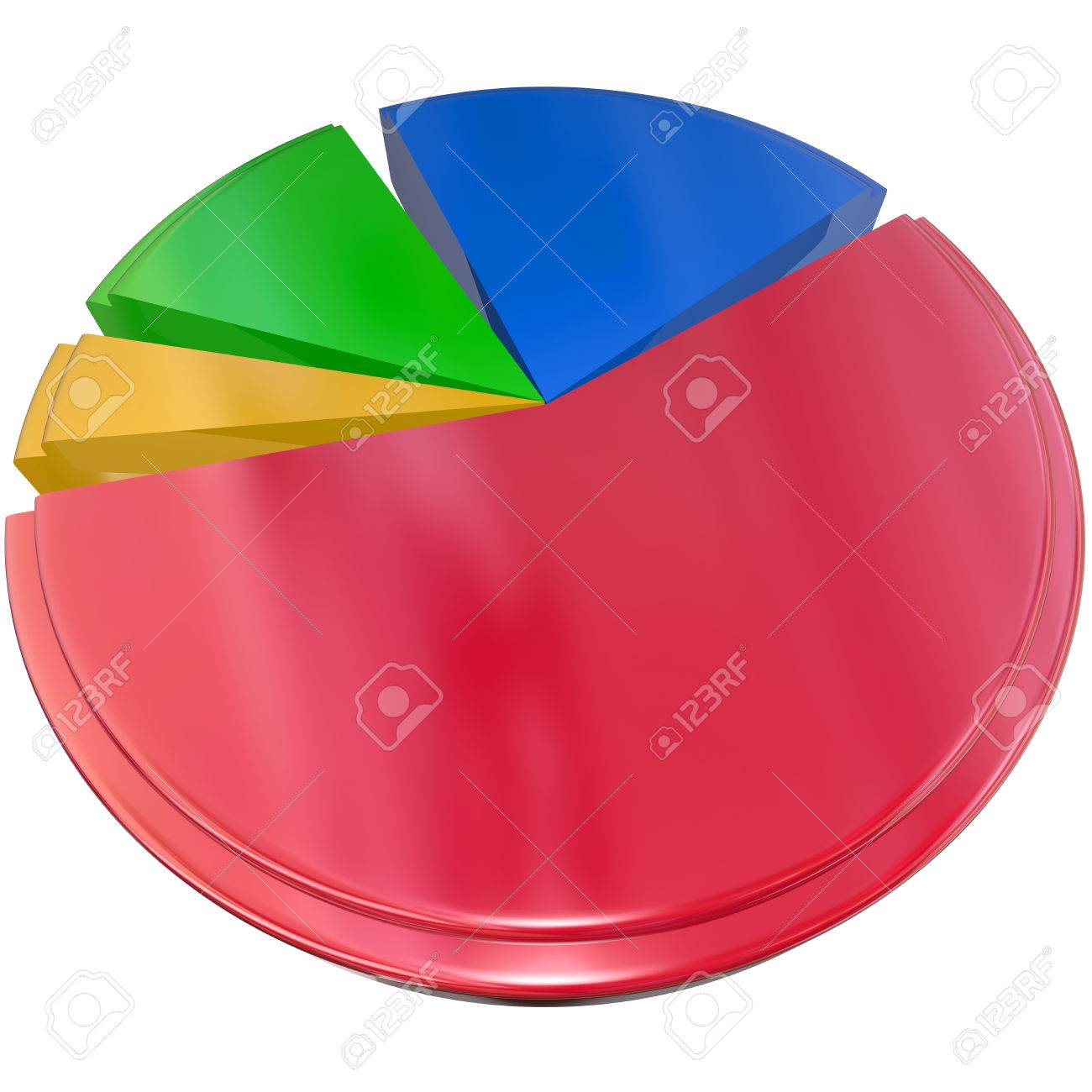 3d Isolated Pie Chart To Illustrate Results Data And Answers