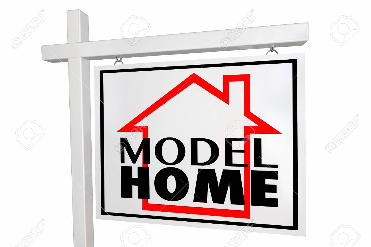 model home property new construction demo real estate house sign